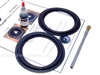 2 Focal 5 Inch K2 Butyl Rubber Speaker Surround Repair Kit - Woofer