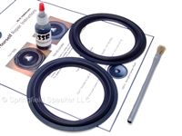 "2 Butyl Rubber 5.25"" Speaker Surround Repair Kit - Woofer"