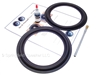 "2 Butyl Rubber 8"" Speaker Surround Repair Kit - Woofer"