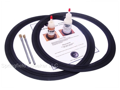 2 piece 15 inch JBL M-Roll Speaker Cloth Surround Repair Kit