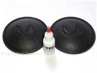 2 Infinity 4.375 inch Logo Dust Cap kit with Adhesive