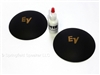 EV 4.125 inch Felt Logo Dust Caps with adhesive - Gold Logo