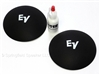 EV 4.125 inch Felt Logo Dust Caps with adhesive - White Logo