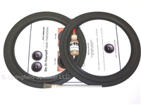 10 inch Standard Speaker Foam Surround Repair Kit - Flat-attach