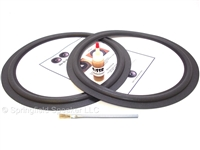 15 inch Standard Speaker Foam Surround Repair Kit - Flat-attach