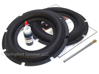 2 Heavy Duty 10 inch Rubber Subwoofer Surround Kit