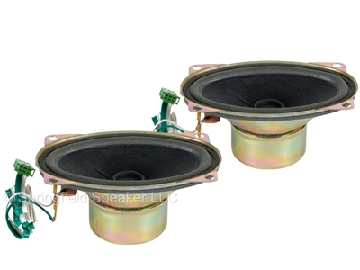 2 Pack of JAMO 2-1/2 Inch x 4 Inch Magnetically Shielded Speakers - 20W, 8 Ohms