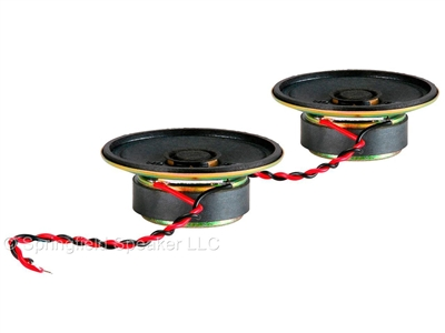 2 Pack of 2 Inch Round Frame Mini Speakers - 2W, 16 Ohm