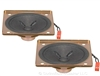 2 Pack of 2-7/8 Inch Square Frame Full Range Mini Speakers - 2W, 16 Ohm