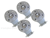4 Pack of All Metal JBL 2412 Horn Diaphragms