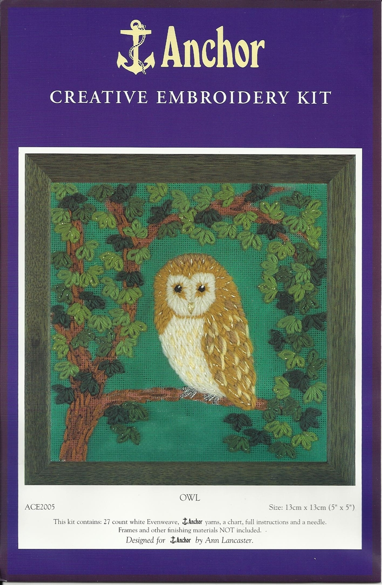 Anchor Embroidery Kit Owl