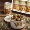 graber olive bowl with two tins olives