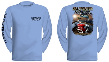 "Saltwater Mafia - ""Ain't Done Yet"" Dry-Fit Long Sleeve (Select Size)"