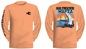 "Saltwater Mafia - ""Tarpoon"" Dry-Fit Long Sleeve (Select Size)"