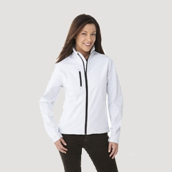 Ladies Full Zip Soft Shell Wind Jacket