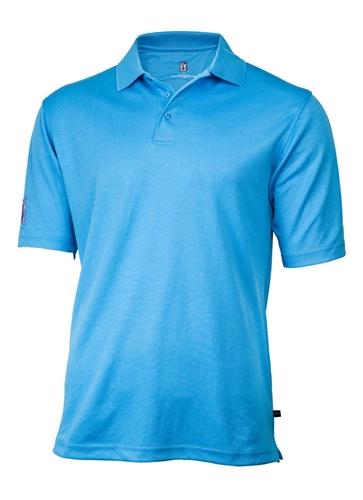 mens pga tour classic golf shirt  royal blue