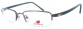 New Balance 375 Silver/Blue Eyeglass Frame