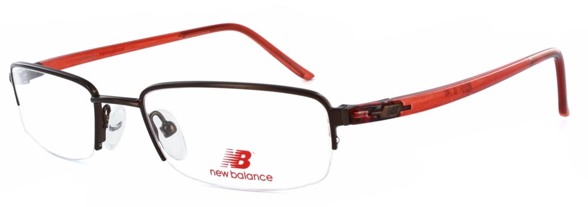 New Balance 375 Brown/Red Eyeglass Frame