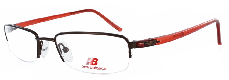 New Balance 375 Brown/Red Eyeglass Frame