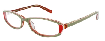 Margarita 6 - Green/Orange Eyeglass Frame