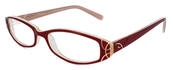 Prague Eyeglass Frame in Red