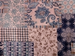 BLUE VICTORIAN PATCHWORK New!