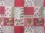 RED VICTORIAN FLORAL PATCHWORK
