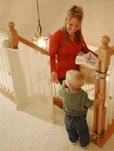 "Retractable Barrier for Child or Pet (Retract-A-Gate® 52"" inch wide)"