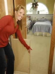 "Retractable Barrier for Child or Pet (Retract-A-Gate® 72"" inch wide)"