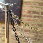 Metal Plated Plastic Chain with Hooks