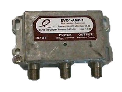 PPC Evolution EVO1-AMP-1 amplified single coaxial power inserter amp
