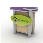 Custom Hybrid Trade Show Counter Pedesta (MOD-1184)