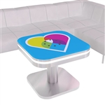 Mobile Device Charging Station Kiosk Round Table