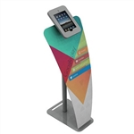 iPad Kiosk Stand L w/ Full Face Graphic