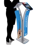 Double iPad Kiosk Stand w/ Graphics
