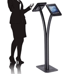 Double iPad Kiosk Stand for Trade Shows