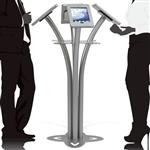 Quad iPad Kiosk Stand for Trade Shows
