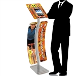 iPad Kiosk Stand Locking Clamshell w/ Graphics