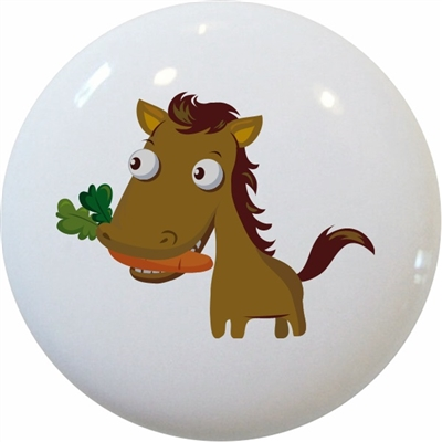 Horse with Carrot Knob
