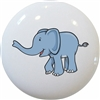 Cute Blue Elephant Knob