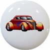 Orange Hot Rod Car Knob