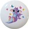 Baby Dragon with Butterflies Knob