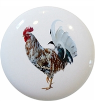 Multi-Colored Rooster Knob