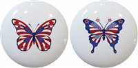 Americana Butterfly Knobs - Set of 2
