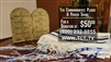 Ten Commandments Stone Tablet Replica And Prayer Shawl