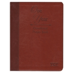 One Year Devotional Prayer Book (Bonded Leather)