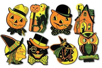 1/2 inch Retro Art Halloween Cutouts