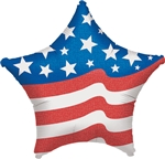 Patriotic Star 19 inch foil baloon from Anagram