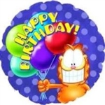 18 inch Garfield Happy Birthday Balloons