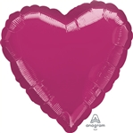 METALLIC FUCHSIA Heart Shape